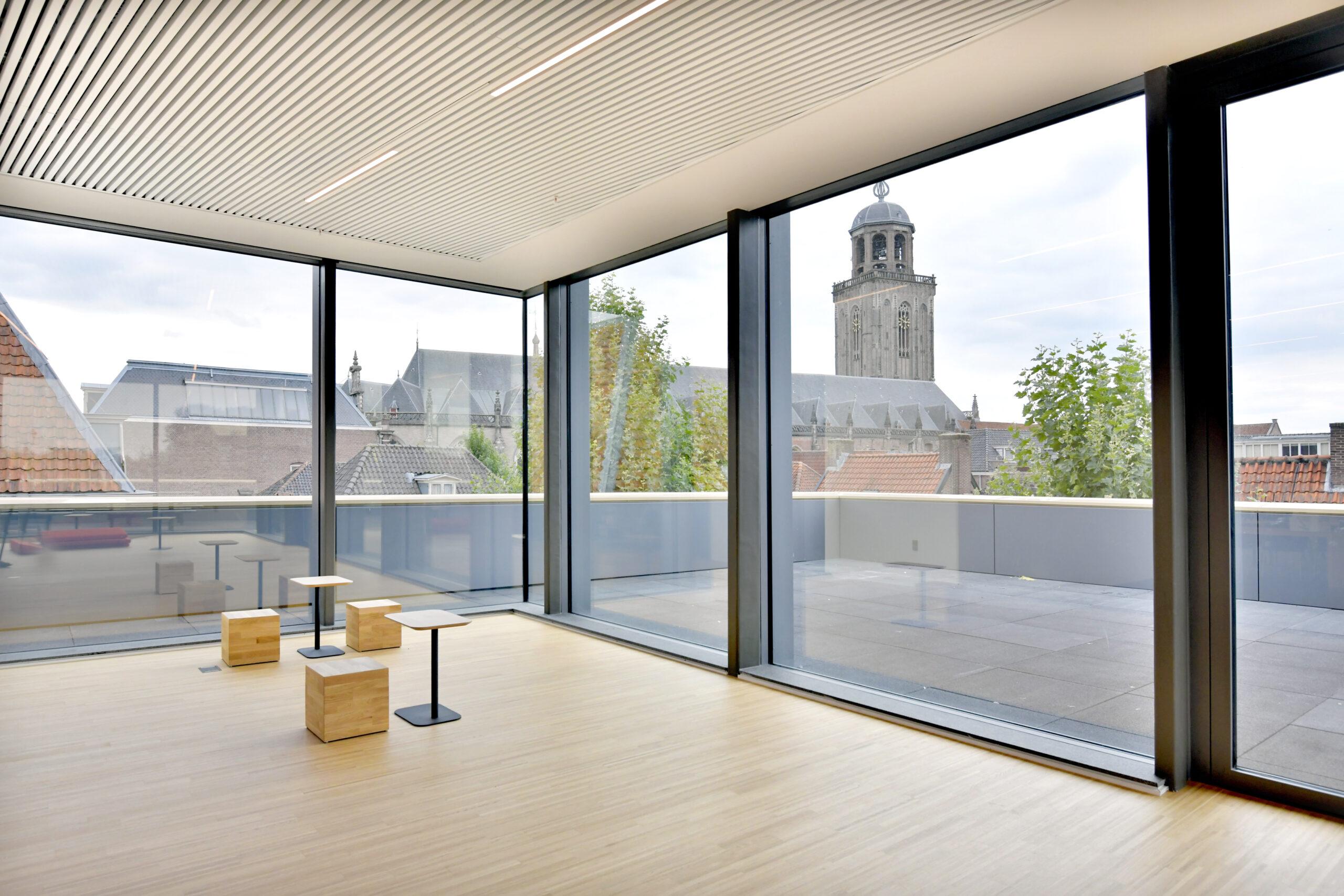 Uitzicht kerktoren Openbare Bibliotheek
