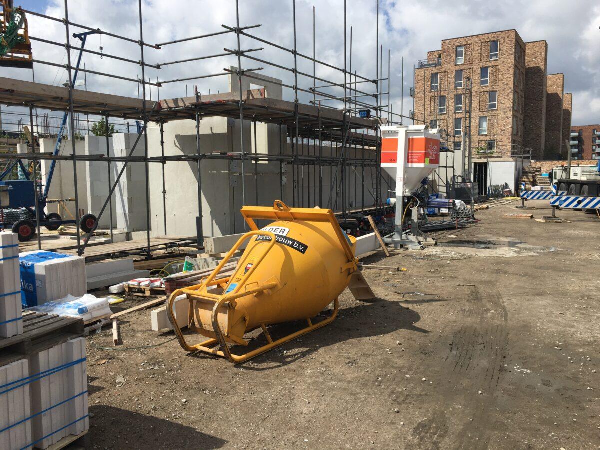 Kalkzandsteen wanden nieuwbouw project Utrecht