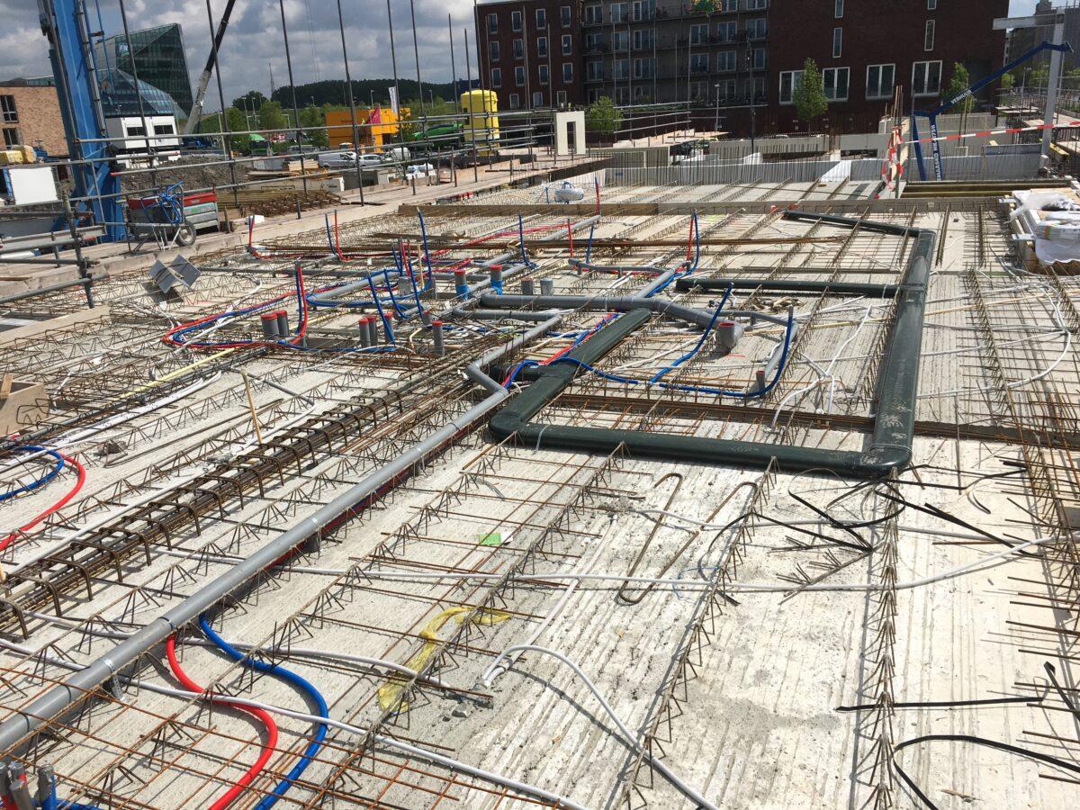 Installaties wapening nieuwbouw project Utrecht