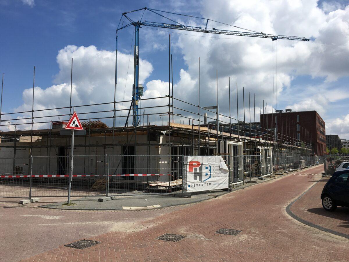 Vooraanzicht nieuwbouw project Utrecht